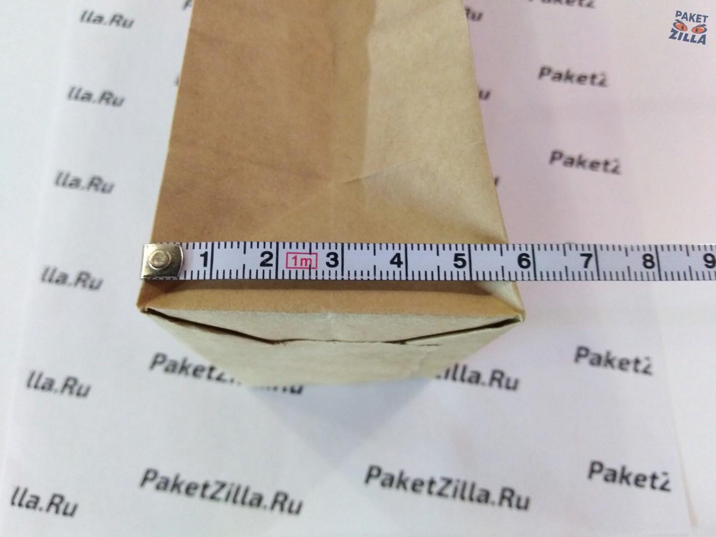 Крафт пакет 200 * 100 * 60 мм с окном. 2-х слойный. 6.