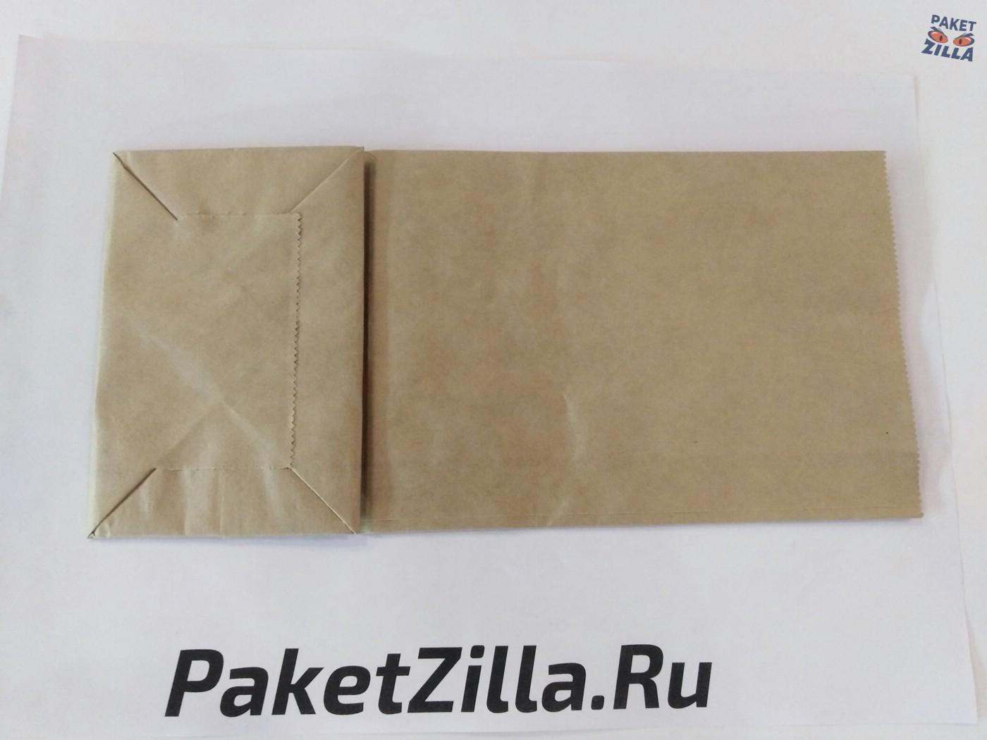 Крафт пакет 250 х 120 х 80 с круглым окном. 2-х слойный. 3.