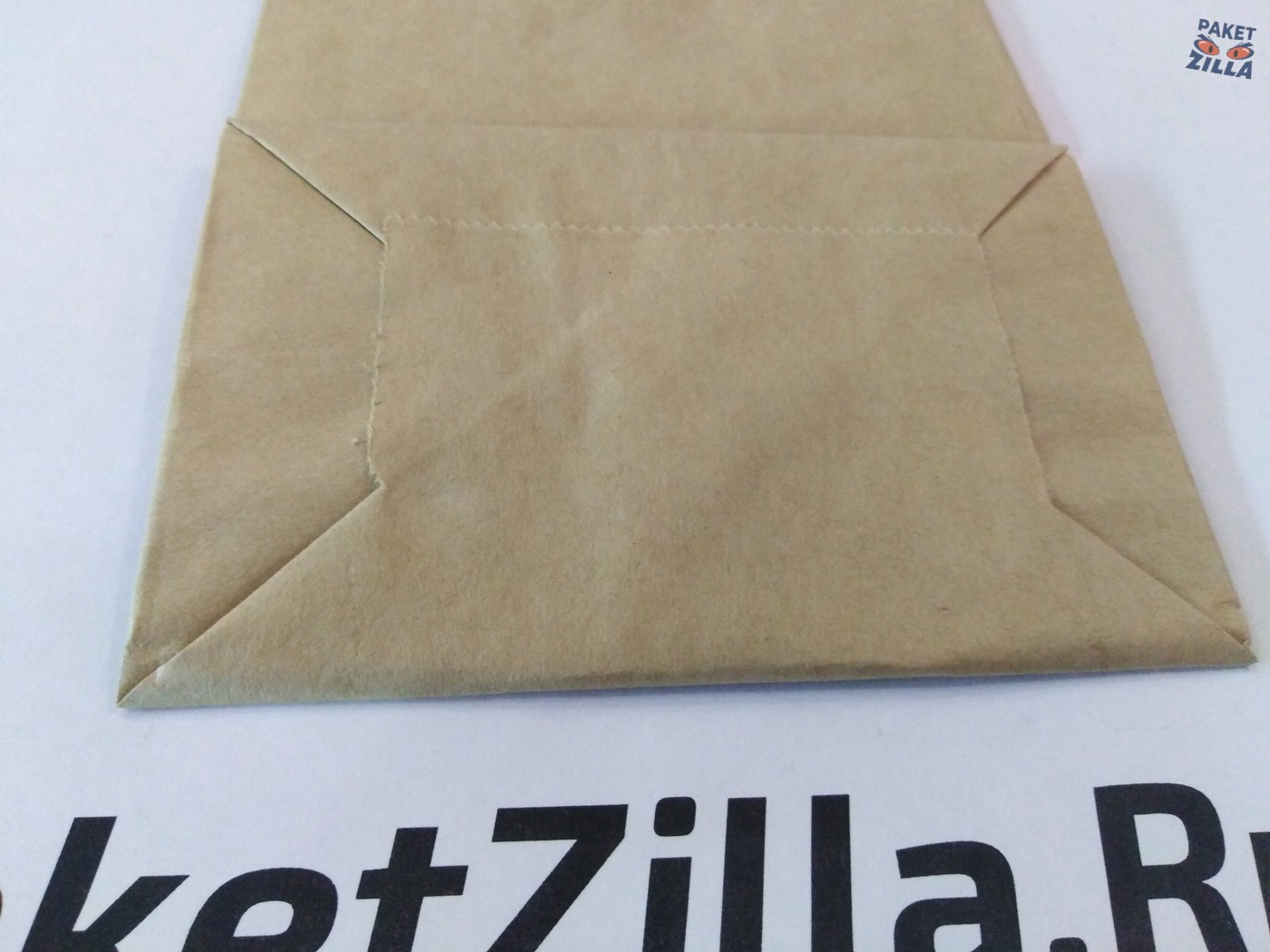 Крафт пакет 250 х 120 х 80 с круглым окном. 2-х слойный. 4.