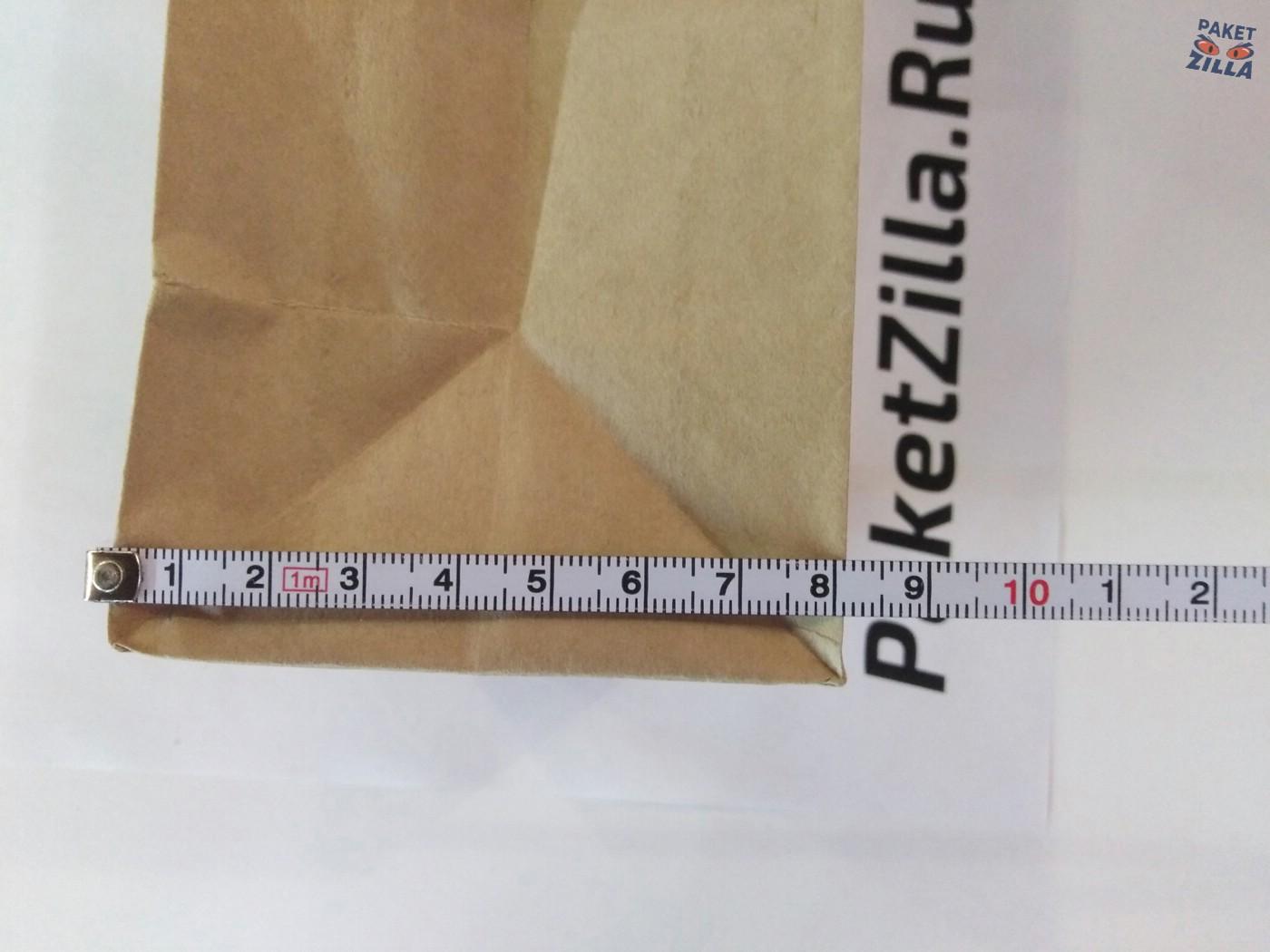 Крафт пакет 250 х 120 х 80 с круглым окном. 2-х слойный. 7.